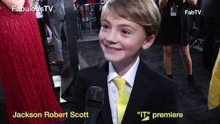 "Jackson Robert Scott at the ""IT"" premiere on FabTV"