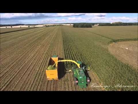 Corn crop for animal feed from the air Phantom 3 No Cut 2015