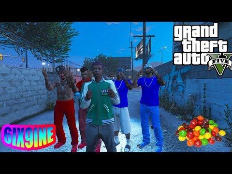 GTA 5 6IX9INE IN THE HOOD (BLOOD VS CRIPS) 6IX9INE (GUMMO )