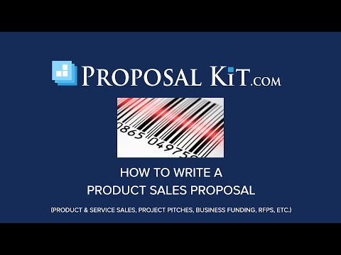 How to Write a Product Sales Proposal