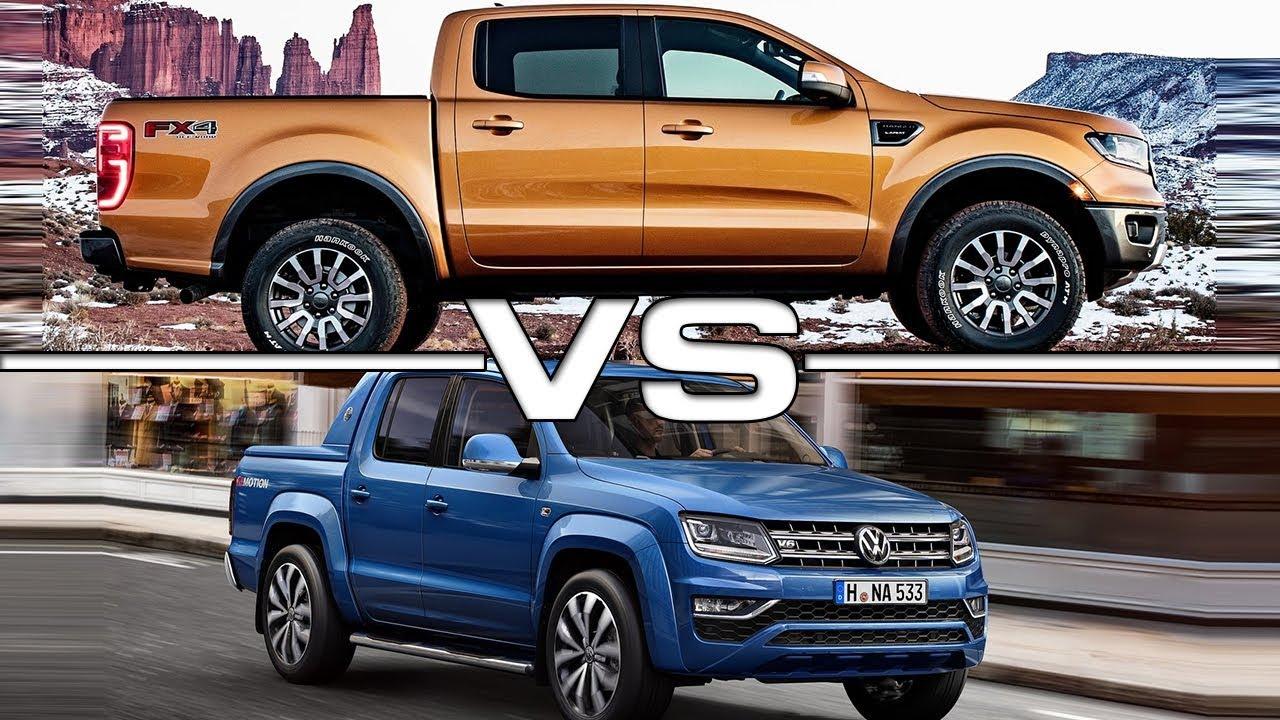 2019 Ford Ranger vs 2018 Volkswagen Amarok - YouTube