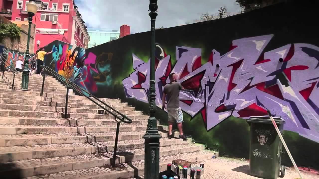 Sofles x mister x nomen x bray lissabon graffiti 1