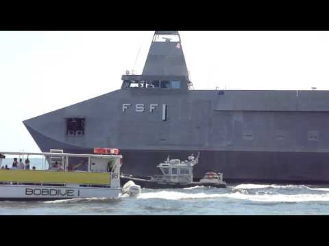 GIANT STEALTH SECRET  ATTACK BOAT EXTREME CLOSEUP