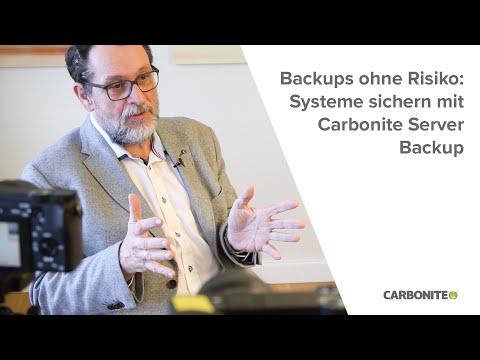 Backups ohne Risiko: Systeme sichern mit Carbonite Server Backup