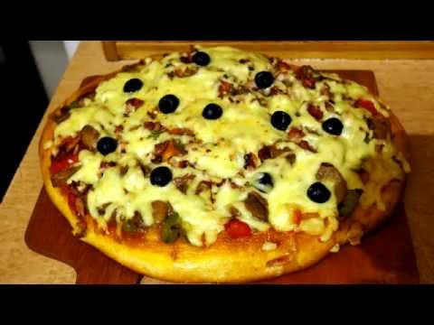 Пицца с грибами рецепт. Домашняя кулинария