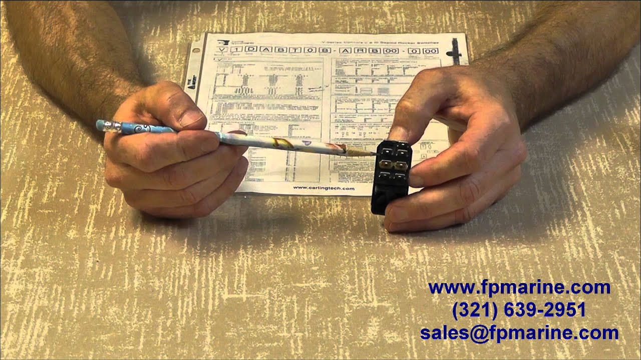 3 pin rocker switch wiring diagram auto color code carling switches video #2c - navigation light and ignition youtube