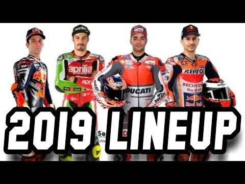 Motogp 2019 Lineup Riders And New Team Youtube