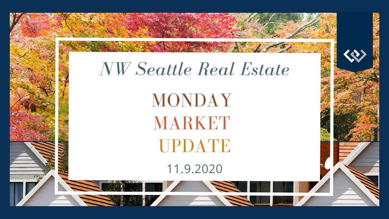 Monday NW Seattle Real Estate Market Update   November 9th, 2020