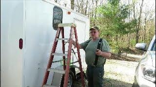 6 x 10 cargo trailer camper work update