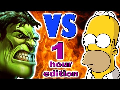 Hulk vs Homer Simpson 1 hour version