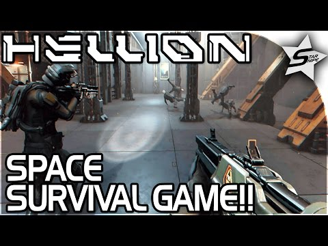 "HELLION - SPACE SURVIVAL GAME!! - ""Getting GUNS and Exploring our SHIP"" - Hellion Gameplay Part 1"