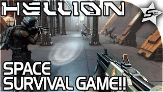 """HELLION - SPACE SURVIVAL GAME!! - """"Getting GUNS and Exploring our SHIP"""" - Hellion Gameplay Part 1"""