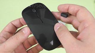 видео Дешевая беспроводная Wireless USB лазерная компьютерная мышь Okdeals