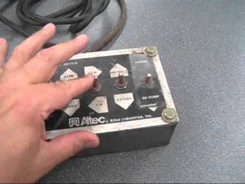 altec bucket boom wired remote  sold  we may have more! switches work great  ready to work for you - youtube