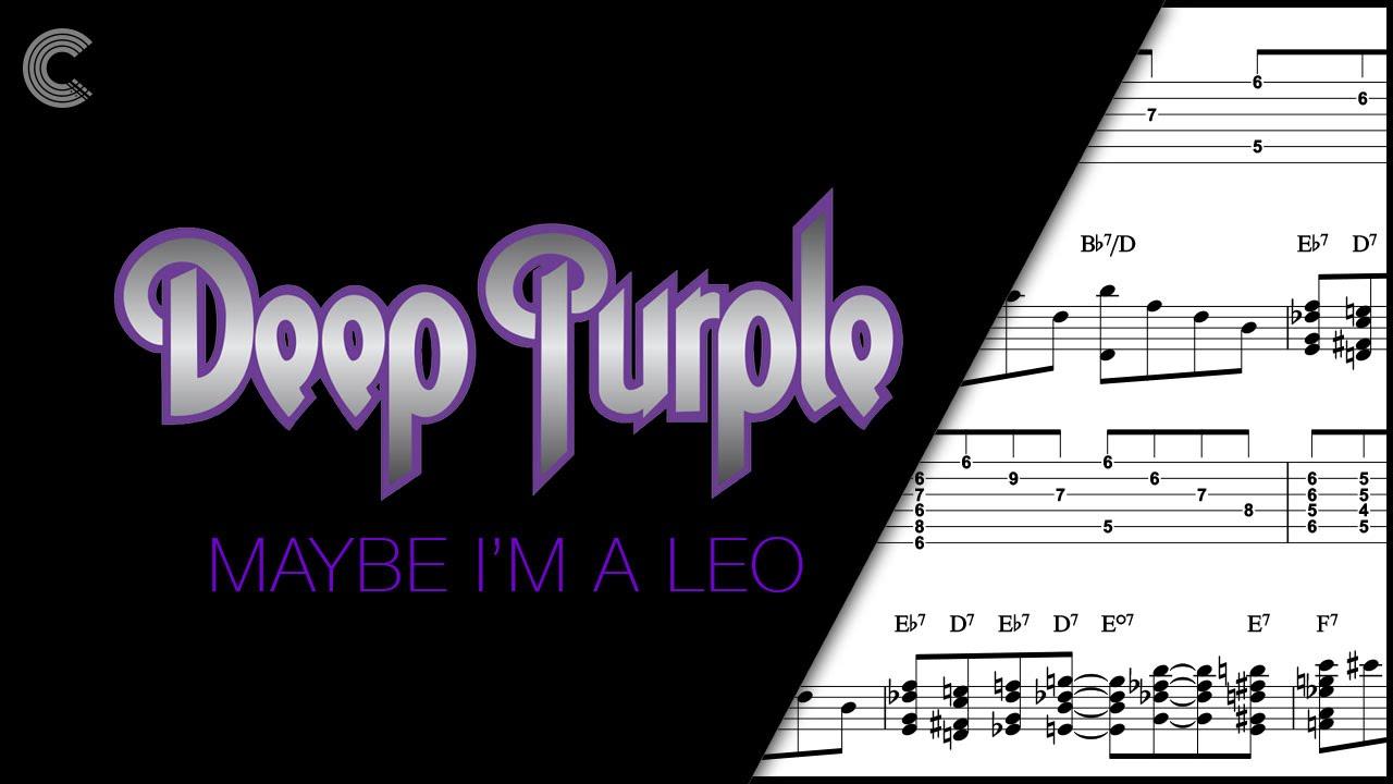 Guitar maybe im a leo deep purple sheet music chords guitar maybe im a leo deep purple sheet music chords vocals hexwebz Images