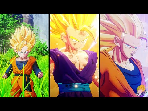Dragon Ball Z Kakarot - All Transformations, Fusions & Absorptions Cinematic Cutscenes [60FPS HD]