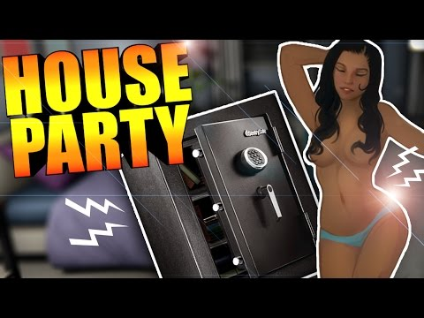 AND THE CENSORING STARTS... UNLOCKING THE SAFE & PRANKING ASHLEY - House Party Itch.io Gameplay