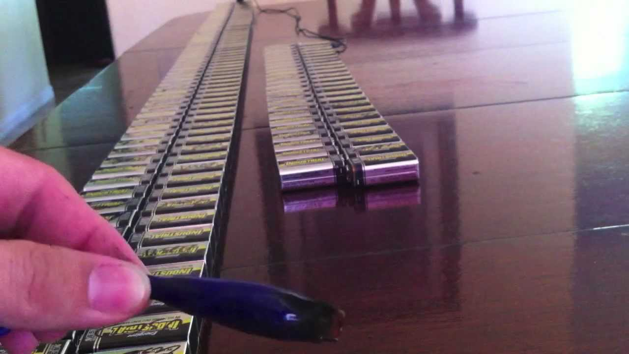 9v Block Batterie Fun With A Few 9v Batteries. (244 Of Them) - Youtube