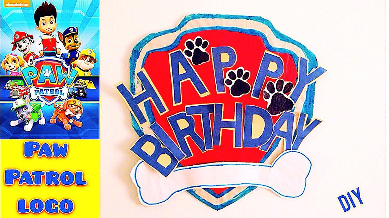 Diy Paw Patrol Logo Centerpiece Paw Patrol Birthday Decoration Ideas Pawpatrol Shield
