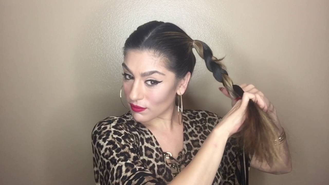 Pigtail Braided Up Do Tutorial Using Mardi Gras Beads Youtube