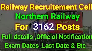 Latest Govt Jobs 3162 Posts | Railway jobs recruitment 2018 | No exam | RRC RRB| Degree