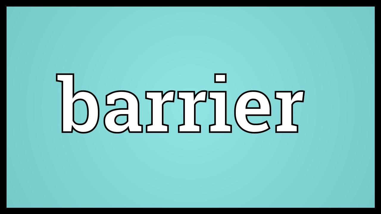 Barrier Meaning - YouTube