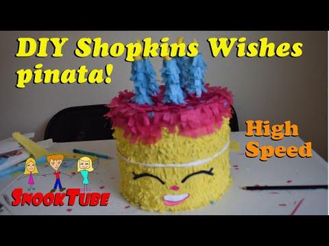 Homemade DIY Shopkins' Wishes Pinata tutorial at High speed