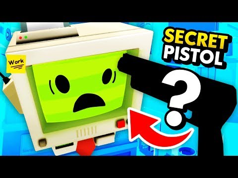 HACKING FOR SECRET WEAPON AND DESTROYING JOB BOT (Funny Job Simulator VR Gameplay)