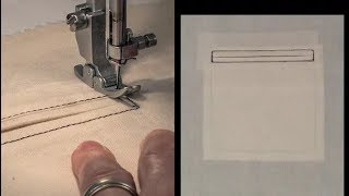 Sewing a Double Welt Pocket -  Free Full Lesson!