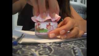 Como Decorar a tampa do pote de papinha em Tecido por Viviane Bortolato