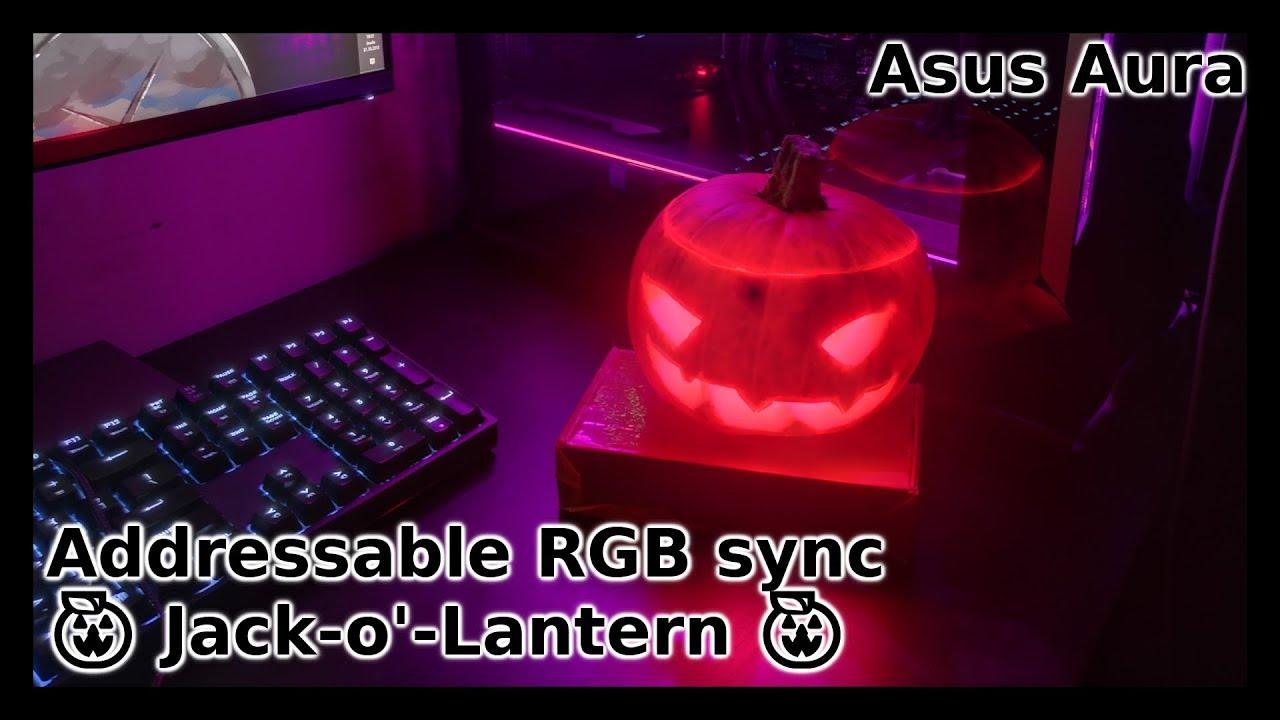 Asus Aura Sync RGB Jack-o-Lantern | RGB sync Pumpkin 🎃