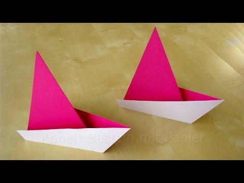 origami segelboot falten einfaches origami schiff basteln mit papier boot basteln mit. Black Bedroom Furniture Sets. Home Design Ideas