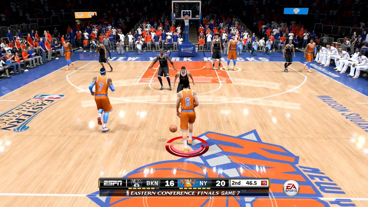 NBA Live 15 FULL GAME 1st Impressions - New York Knicks vs Brooklyn Nets - YouTube