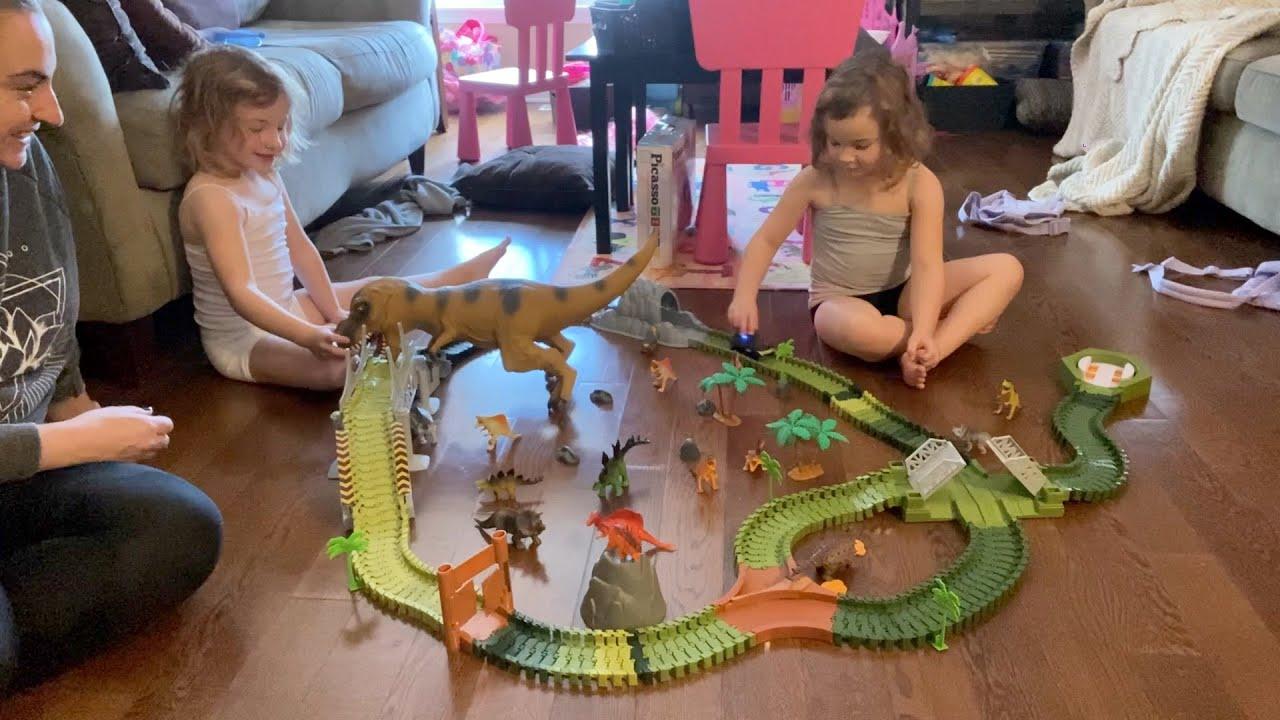 Download It's Dinosaur Time! KITOART Dinosaur World Road Race with Lillyanna & Olivia!