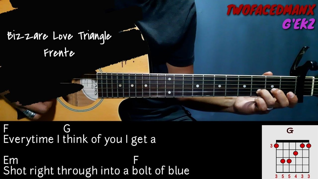 Bizzare Love Triangle   Frente Guitar Cover With Lyrics & Chords