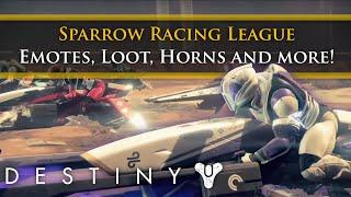 Destiny - Sparrow Racing League: New Emotes, Sparrows, Horns and Score log!