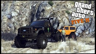 GTA 5 ROLEPLAY - RECOVERING WRECKED JEEP OVER CLIFF - EP. 676 - CIV