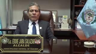 Alcalde de Hualmay  Eddie Jara saluda a su distrito