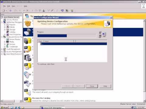 NetBackup add Tape Library