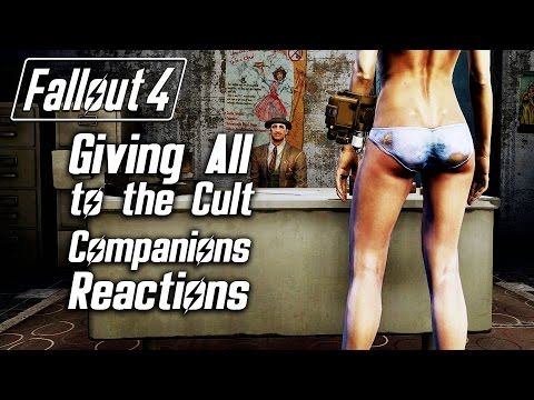 Fallout 4 - Giving All Belongings to the Cult - All Companions Reactions