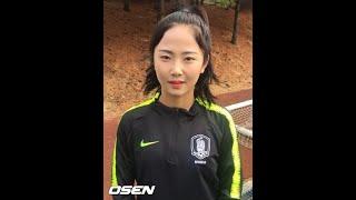 """<女子サッカー>""""日本進出""""イ・ミナ「日本で多くを学んでいる。アジアカップに向け努力したい」 (3/27) イミナ 検索動画 25"""