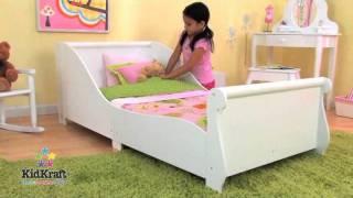 Kidkraft White Sleigh Toddler Bed