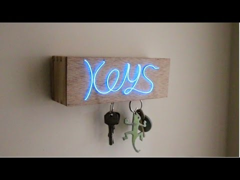 D.I.Y Illuminated Magnetic Key Holder!