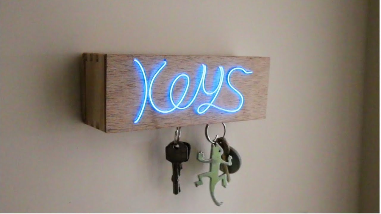 D.I.Y Illuminated Magnetic Key Holder! - YouTube