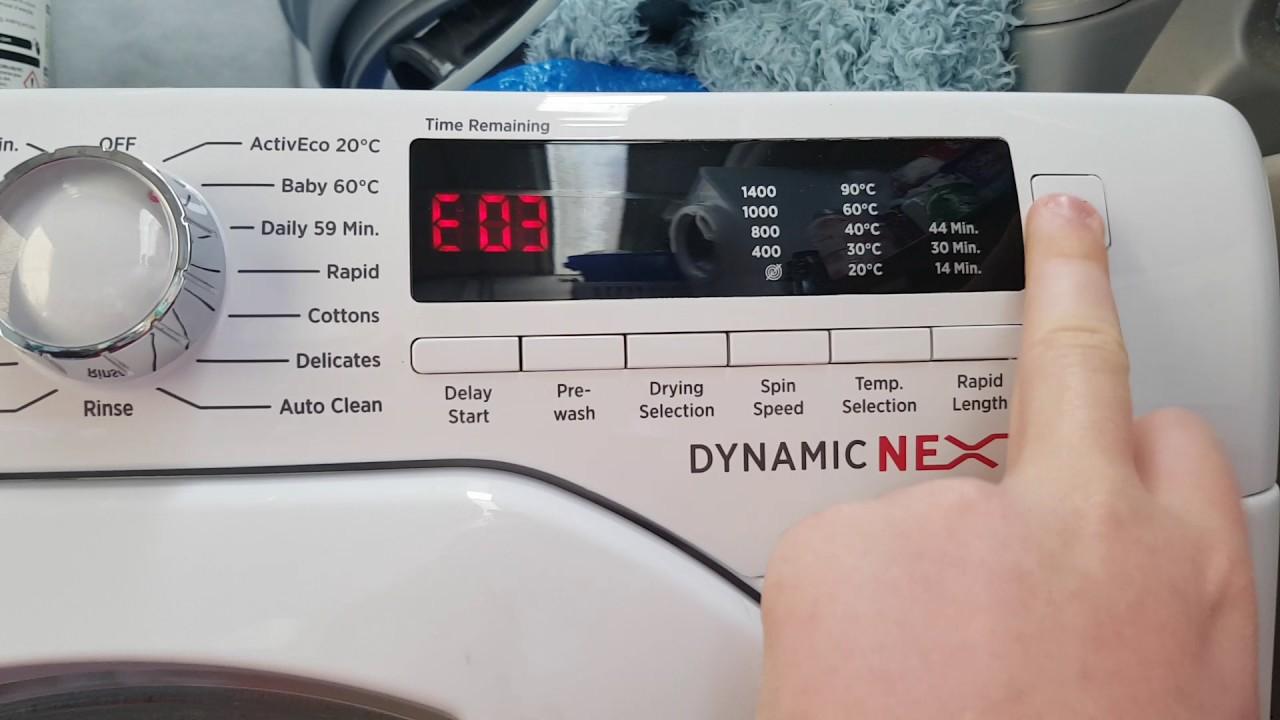 candy grand vita tumble dryer error code e04