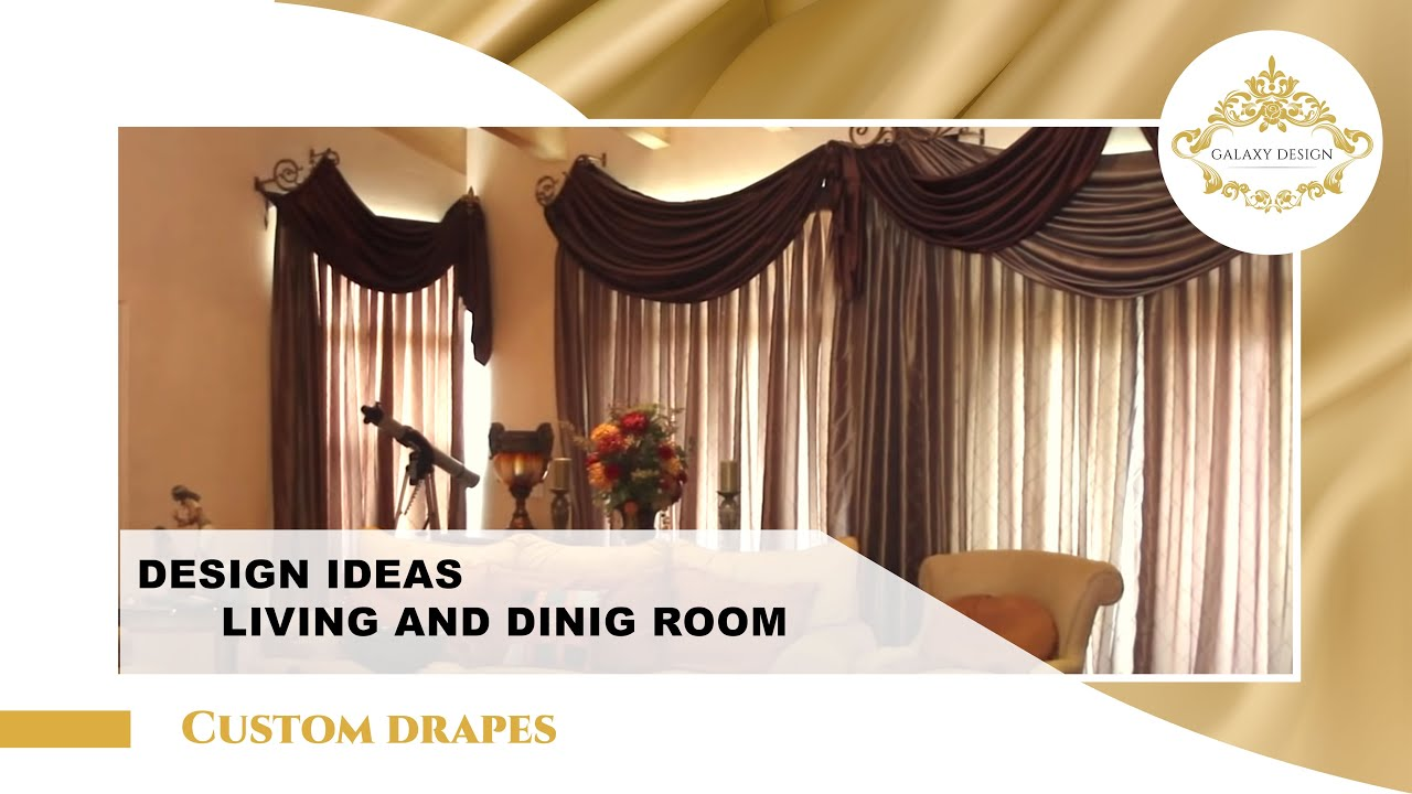 video 3 living room drapery design youtube - Drapery Design Ideas