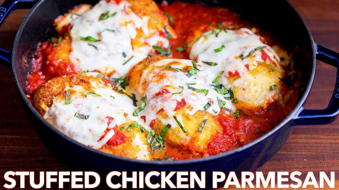Stuffed Chicken Parmesan Recipe Natashaskitchen Com