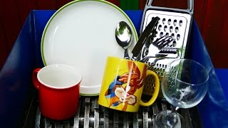 KITCHEN STUFF SHREDDING (MUGS, PLATES, GLASSES, FORK, SPOON, KNIFE)