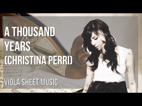 EASY Viola Sheet Music: How to play A Thousand Years  Christina Perri