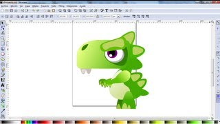Video Tutorial de Inkscape en Español 4: Dibujar un Dinosaurio